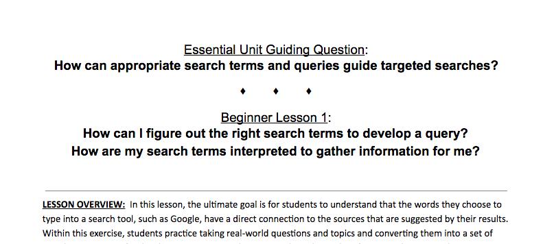 search lesson plan