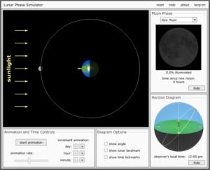 moon phase simulation